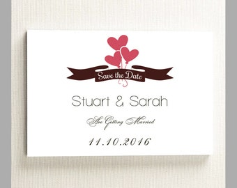 10 x Personalised Wedding Save The Date Invitation & Venue Cards A6 With Envelopes.