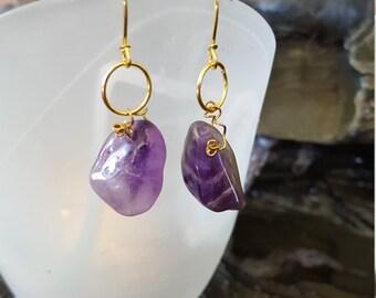 Natural Lavender Amethyst Earrings
