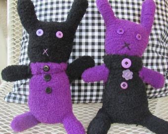 Super Fuzzy Glove Bunnies, Lovey, Stuffed Bunny, Stuffed Animal