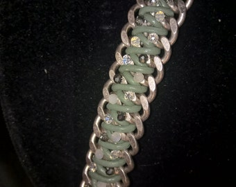Curb Chain and Leather bracelet 43