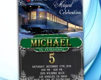 Polar Express Invitation - Polar Express Birthday Party - Polar Express Printables - Christmas Invitation