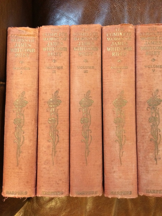The Complete Works of James Whitcomb Riley Volumes 1-5. 1916 edition.
