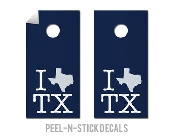 Dallas - Cowboys - State Pride - Cornhole Board Decals