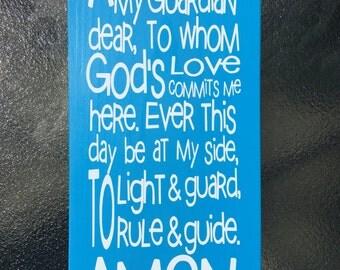 Guardian Angel Prayer - Blue