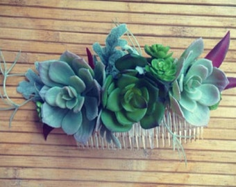 Flowercrown Fascinator Headpiece Succulent Flower Crown