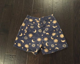 patterned vintage shorts