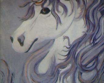 Purple Unicorn Painting