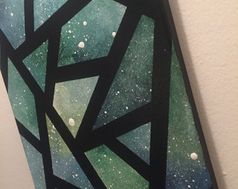 """Clearance - """"Shattered Sea Glass"""" - Painted Canvas"""