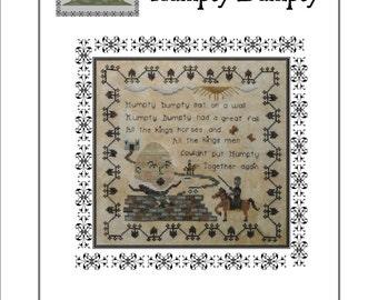 Nursery Rhymes - Humpty Dumpty Cross Stitch Pattern