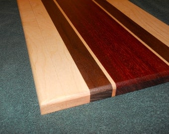 Hardwood cutting board handmade special gift for your special chef, cook, foodie, or friend