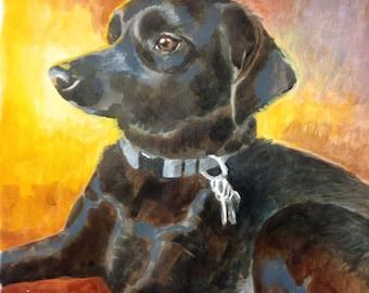 "Custom Pet Portrait: Single Pet 8x10"""