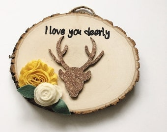 halloween gallery wall decor hallowen walljpg i love you deerly sign deer sign woodland nursery decor wood sign
