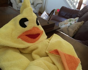 Baby Chick Hooded Bath Towel for Toddler