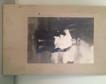 Vintage Victorian Cabinet Card, Antique Photograph, Young Boy