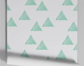 Wallpaper Green Triangle