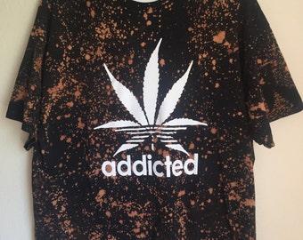 Addicted Bleached T-Shirt Men's XL