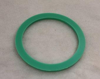 12pcs Vintage Stacking Bangle Cuffs Lime Green