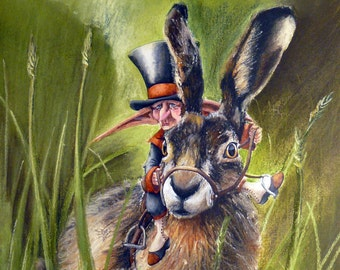 """Artwork """"The Hare"""" print- """"duo"""" collection"""