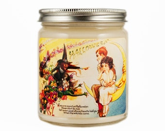 Halloween Candle, Scented Candle, Soy Candle, Container Candle, Vintage Halloween, Halloween Decoration, Halloween Decor, Witches Brew