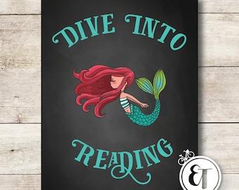 Chalkboard Reading Posters