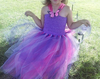 Purple and Pink Tutu Dress