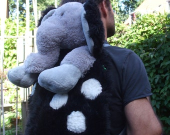 cuddly elephant backpack for big kids and adults