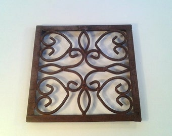 Vintage Iron Wall Register Vent Grate