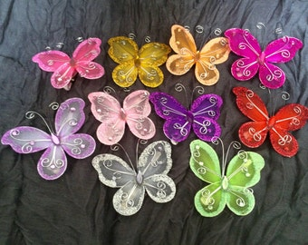 Whimsical Butterfly Hair Accessory Clips