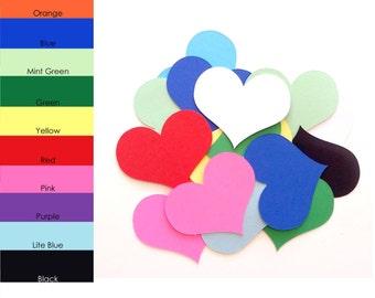 25 pack - Heart Paper Cut Out, Paper Heart, Paper Heart Shapes, Scrapbook Hearts