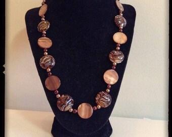 Pecan Swirl Necklace