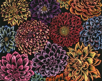 """Signed Limited Edition Giclee Print: """"Floral Fiesta"""" by Katherine Appleby"""