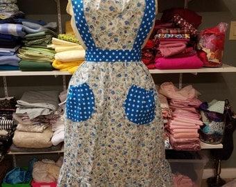Floral and polka dots apron