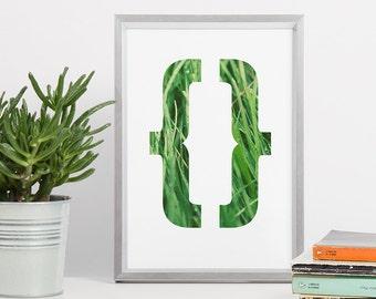 Printable Wall Art - Grass Abstract