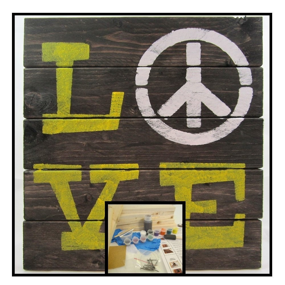 Wood Sign Kit Diy Craft Kit Make Your Own Board Sign Decoration Home Decor Craft Project
