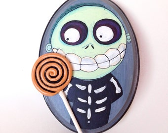 Nightmare Before Christmas BARREL painting, Barrel with his lollipop , 3D art