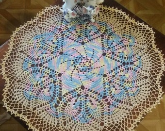 SALE! Crochet doily table decoration crochet tableclothes multicolored lace doily Handmade doily decoration for home