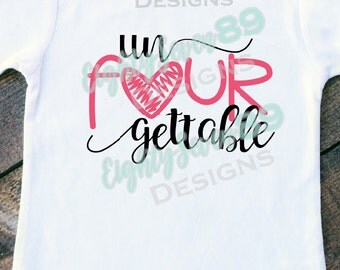 UnFOURgettable; Birthday Shirts; 4th Birthday; 4th Birthday Shirt; Girls Birthday Shirt; Birthday Girl; Shirts for Girls; Toddler Shirt