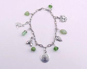 Forest Themed Charm Bracelet