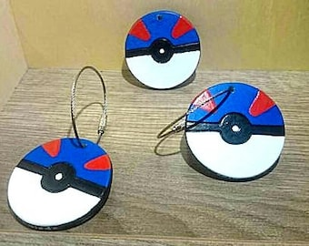 Pokeball Super ball keychain