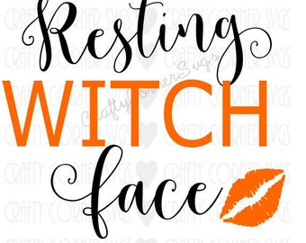 SVG-Resting Witch Face-First Halloween SVG-design-Happy Halloween-Sassy Halloween-Cricut design-Cute svg-halloween design
