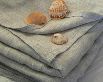 Linen beach blanket, Linen bath towel sheet, linen sauna towel, linen beach towel, baby blanket, natural linen spa towel