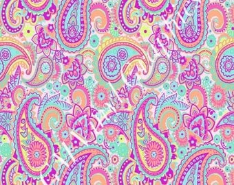 "Paisley Patterned Vinyl / Heat Transfer Vinyl / HTV  12""X18"" #6"