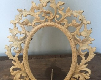 Vintage/antique cast iron ornate Wilton frame