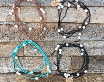 The Edgy Pearl Wrap (Necklace, Bracelet, Belt, or Arm Wrap)