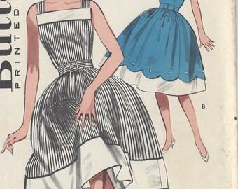 "1950s Vintage Sewing Pattern B30 1/2"" DRESS (R329) Butterick 9381"