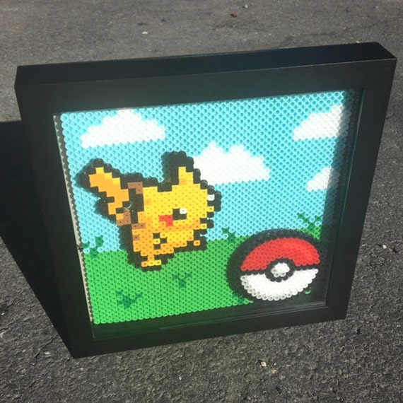 Wall Art Shadow Box : Custom pokemon shadow box wall art by chicgeekstudios on etsy