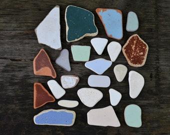 Multicolored Sea Tiles set Real Sea Pottery Genuine Beach Pottery Tile for Craft Beach pottery shards Colored genuine sea pottery for Art