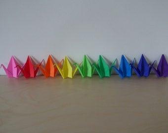 10 Handmade Paper Cranes