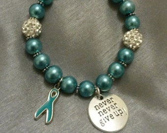 Pcos & Ovarian Cancer Awareness Bead Bracelet