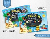 Pokemon pool invitation, Pokemon pool party invitation, Pokemon pool party photo invitation! Personalized digital invitation.